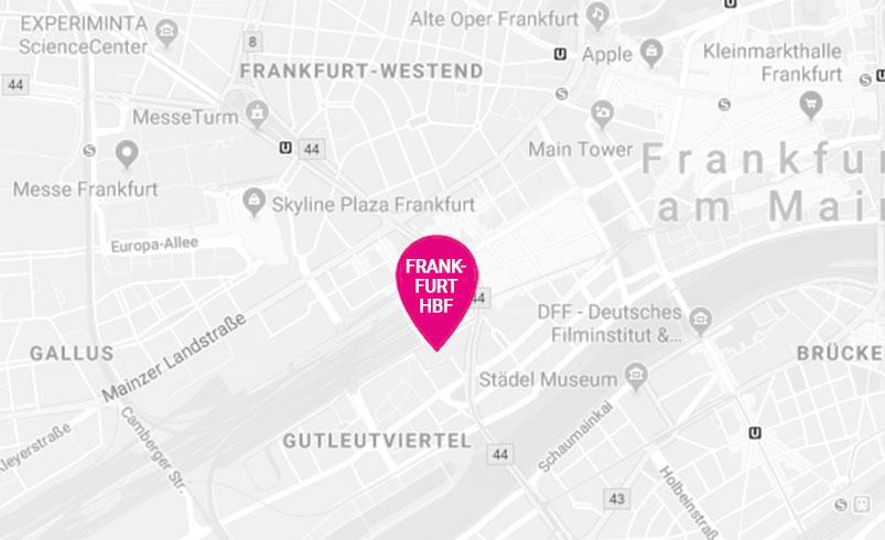 Pinkbus-Haltestelle Frankfurt am Main